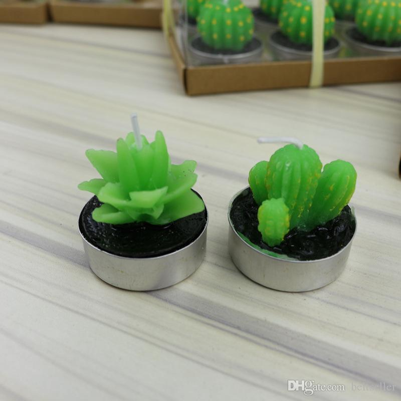 Hot Sale green succulent flameless candles ZAKKA Potted Plants Shape Scented Candle Lamp christmas party decorations candles Supplies