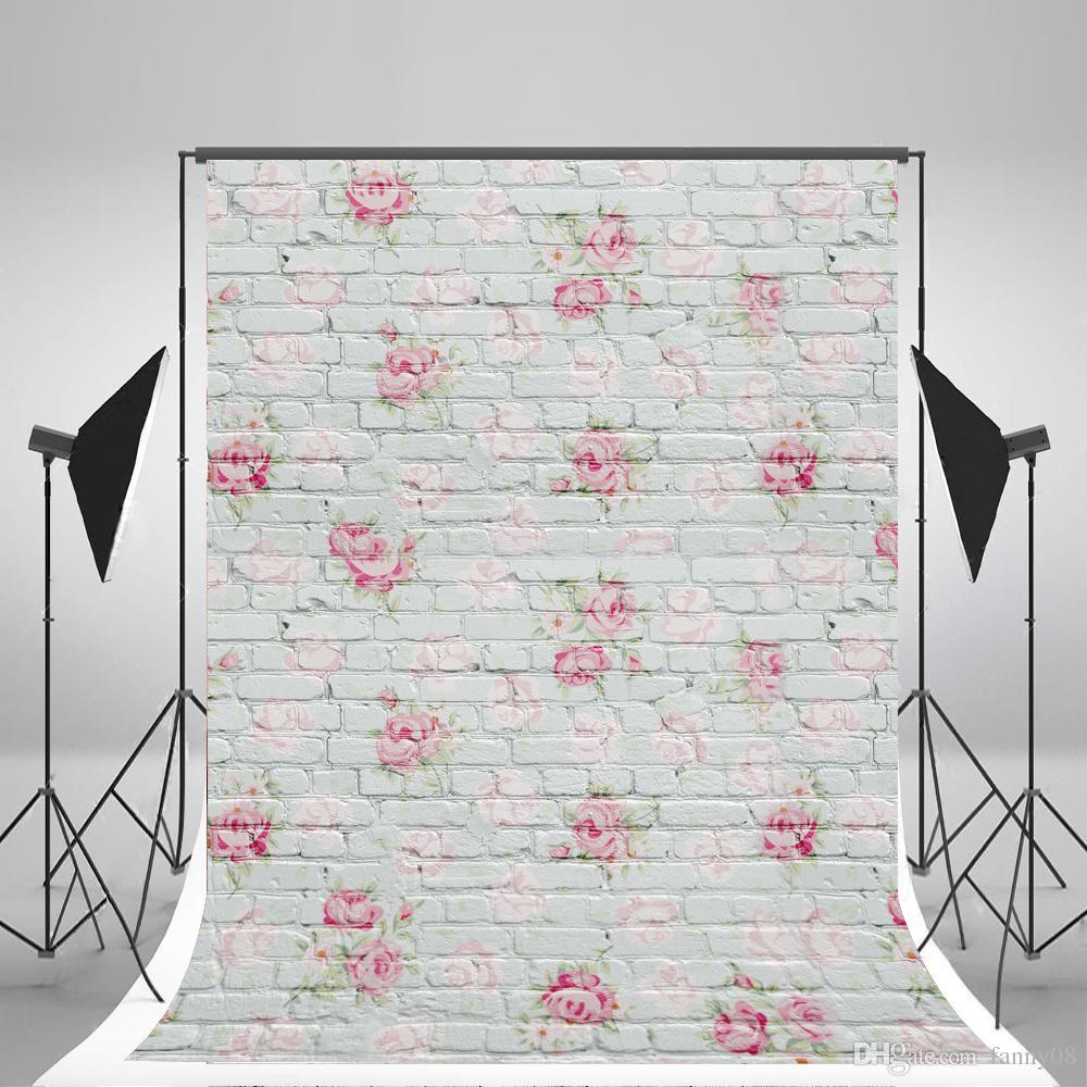 2018 5x7ft150x210cm White Brick Wall Photography Backdrops Wallpaper