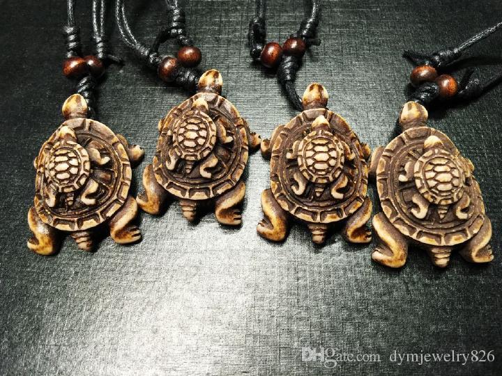 Yqtdmy Imitation Carved turtles Newest Design Surfing Biker necklace