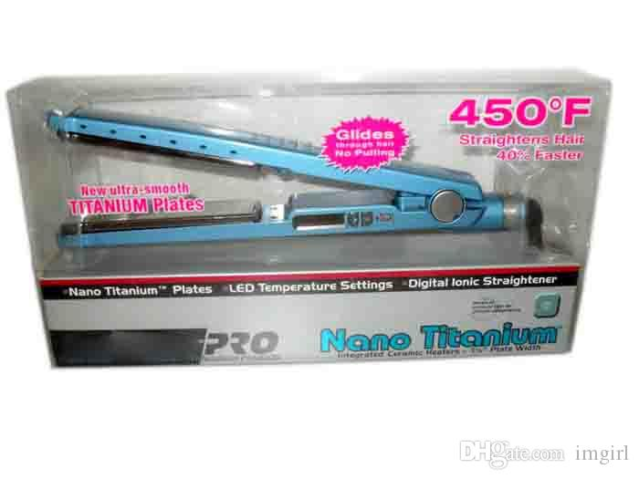 Hot PRO 450F 1 1/4 plates babe liss plate Hair Straightener Straightening Irons Flat Iron DHL free fast ship