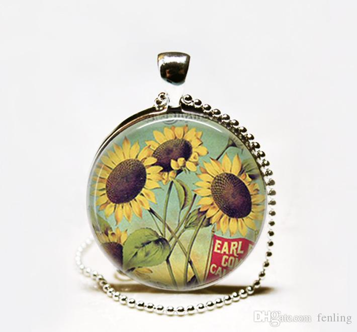Wholesale vintage sunflower pendant necklacesunflower necklace wholesale vintage sunflower pendant necklacesunflower necklace sunflower pendant sunflower jewelry letter pendant necklace number pendant necklace from aloadofball Image collections