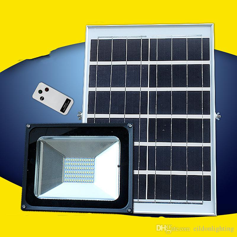 LED Solar Flood Lights 96LEDs Aluminum Diecasting Remote Controller Garden Path Lamps Outdoor Waterproof Stairway Home Yard Park Lighting