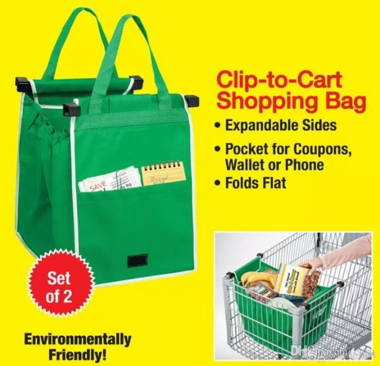 2019 New Grab Bag Reusable Eco Friendly Shopping Bags That Clips To