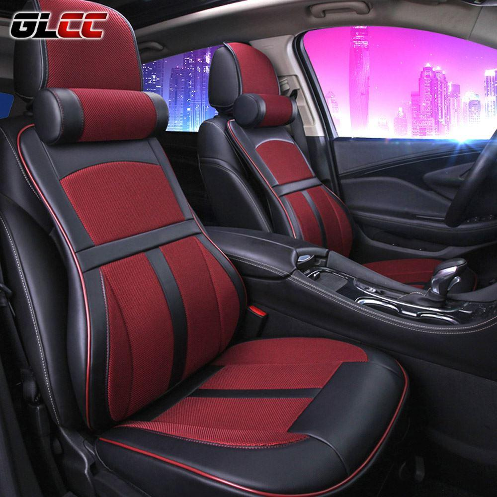 Premium Car Seat Cover Comfortable With Memory Foam And 3d Leather
