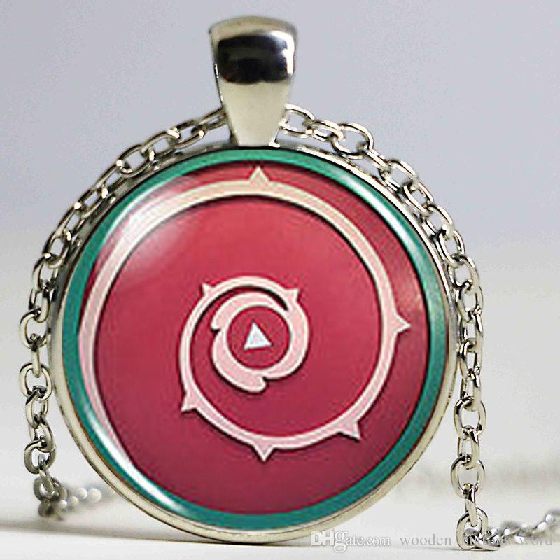 Animax Steven Universe Shield Cabochon Mens lot Handmade Fashion 78cm Necklace silver Pendant steampunk Jewelry women chain