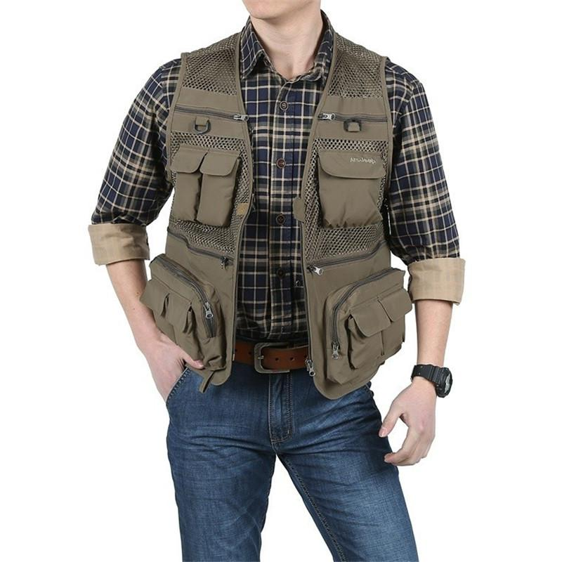 940fc26da4cf1 2019 Wholesale 2016 New Vest Men Casual Underwaist Sleeveless Cargo Vests  Fashion Size M 4XL Waistcoat A0363 From Cagney