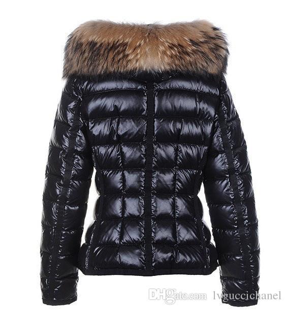 Classic Brand Women Winter Warm Down Chaqueta con cuello de piel Feather Dress Chaquetas Womens Outdoor Down Coat Chaqueta Moda mujer Parkas M1