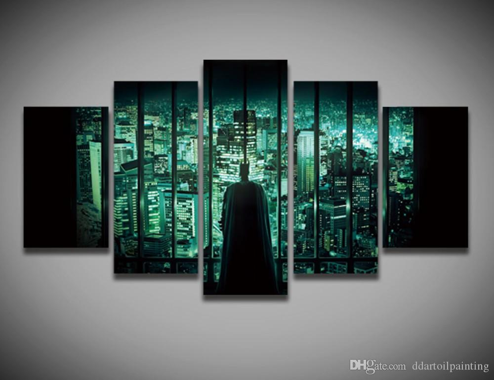 Painting By Numbers New Top Fashion Movie Picture Painting On Canvas 5panels for Wall Decoration Art Print Unframed