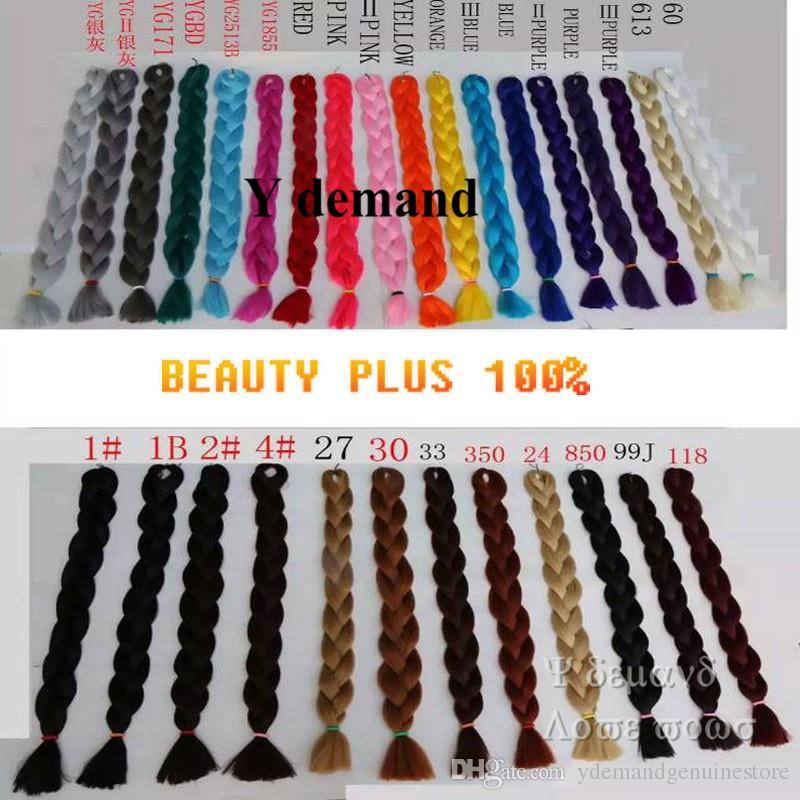 Trança de cabelo Xpression Tranças Africano Braid Ultra 82 polegada 165G Cabelo Sintético Para Tranças Loira / Branco / Azul / Verde / Roxo / Vermelho Y demanda