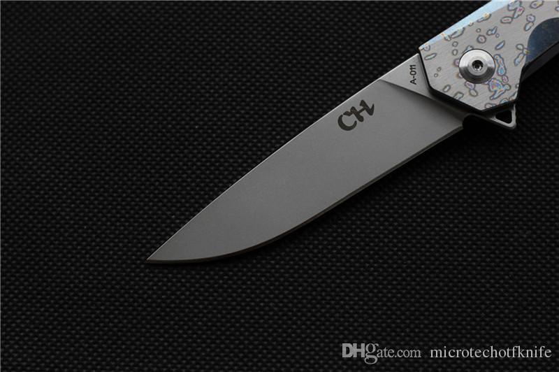 CH 1047 MINI original design Longwind ball bearing Flipper handle AUS-8 blade folding knife camping hunt survival outdoor tool