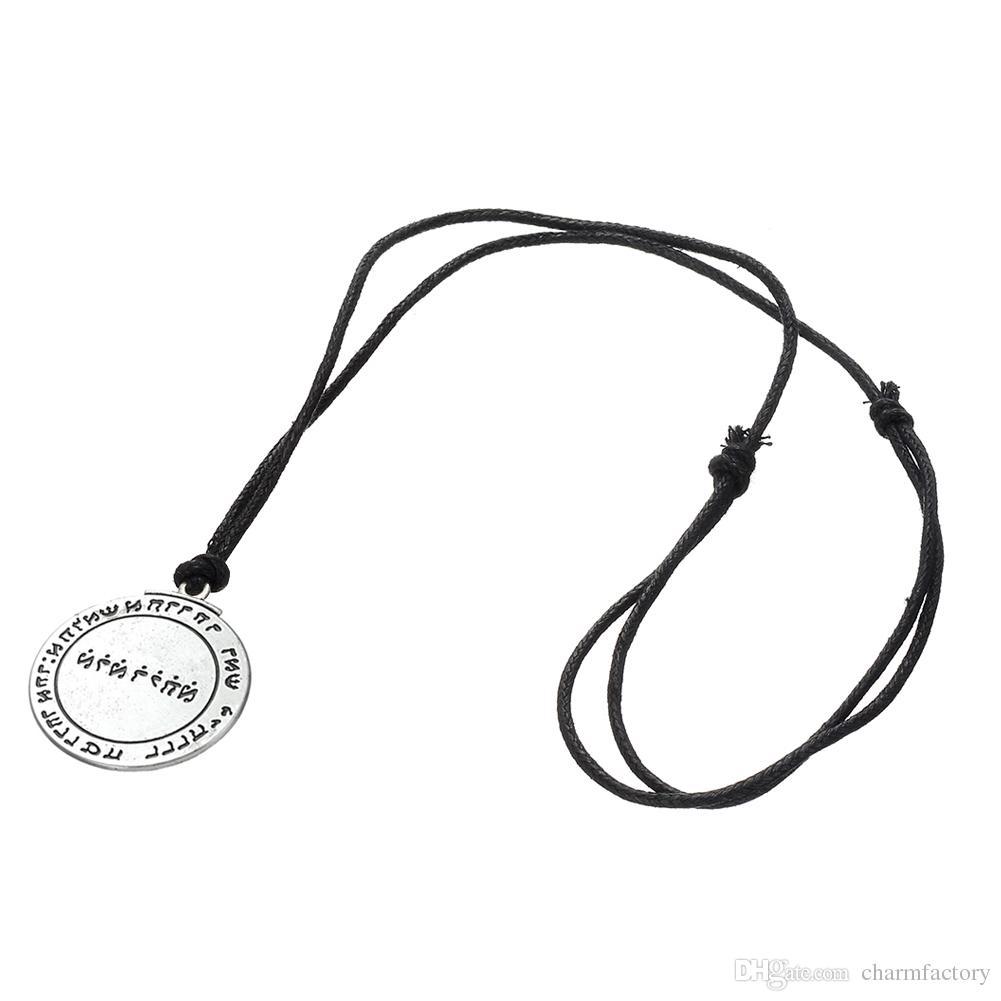 Simple Vintage Solomon Seal Pendant Talisman Pentacle of Jupiter kabbalah Wiccan Charm Necklace