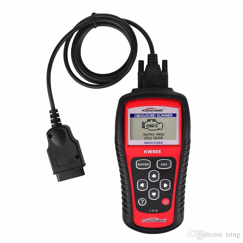 KW808 Vehicle Diagnostic Tool OBD2 OBDII LCD Scantool Auto Truck Diagnostic Scanner Computer Vehicle Fault Code Reader Scan