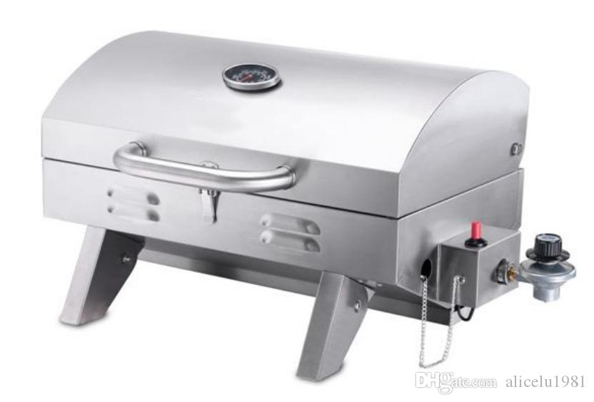 Portable Mini Stainless Steel Table Top Gas Bbq Barbecue