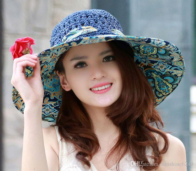 Cute Woman With Hat: Wholesale Stylish 2017 Summer Floppy Anti UV Sun Hats For