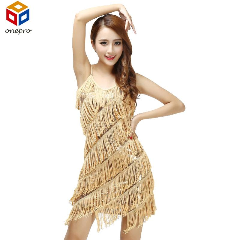 2018 Wholesale Woman Vestido De Festa Flapper Fringe 1920s Gold