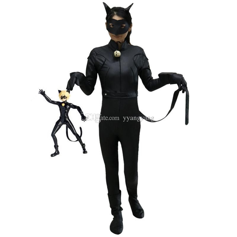 Kids Miraculous Ladybug Cat Noir Cosplay Costume With Mask Ladybug Black  Romper Costume Bodysuit Halloween Tight Jumpsuit Cheap Anime Cosplay  Cosplay Site ...