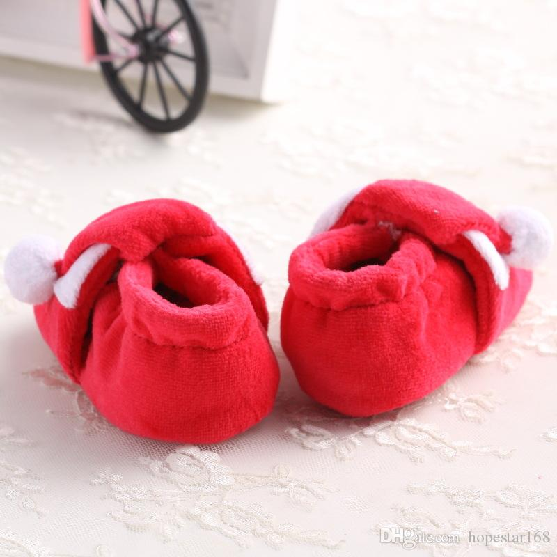 Endorsed Xmas Baby Shoes Toddler Shoes Christmas Boy Girl warm winter soft sole Crib Shoes Lovely 3 Size
