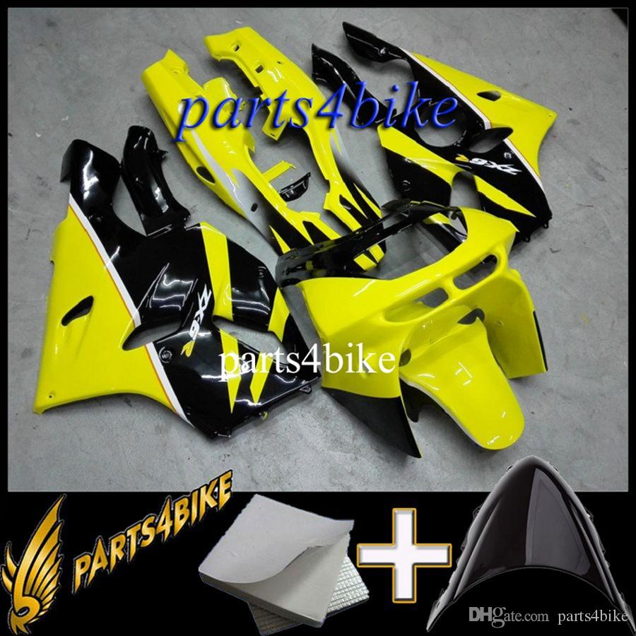 Aftermarket Plastic ABS Fairing for Kawasaki ZX6R 94 97 ZX-6R 1994-1997 94 95 96 97 yellow black Body Kit motorcycle panels
