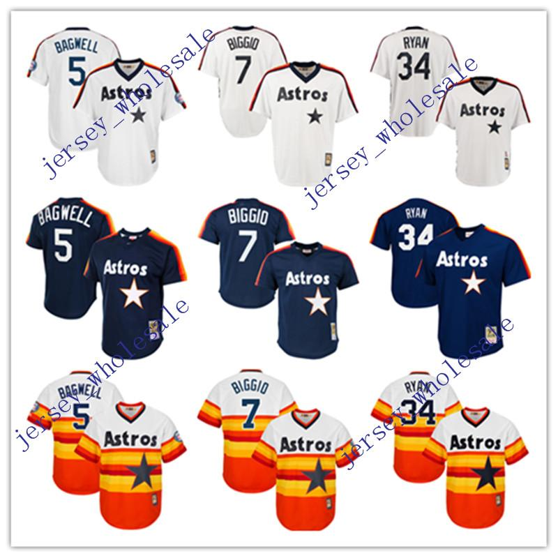 b2ea297863b ... Baseball Jersey 2017 Cheap New Houston Astros Throwback Jersey  Cooperstown Collection MenS 5 Jeff Bagwell 7 Craig Biggio ...