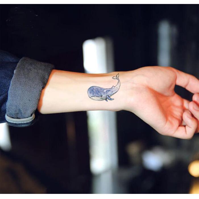 New Temporary 3D Tattoo Body Arts Shark Fish Flash Tattoo Sticker 10.5 * 6cm