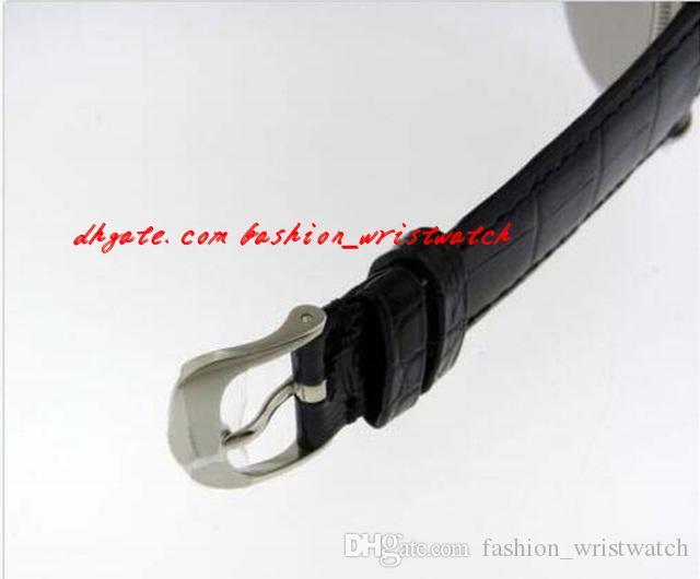 패션 럭셔리 손목 시계 50509 화이트 골드 블랙 다이얼 새로운 모델 50509 자동 기계 망 시계 망 시계 최고 품질