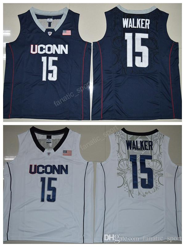 d1df4ba38426 ... Navy Blue Jersey 2017 Uconn Huskies College 15 Kemba Walker Jersey Men  For Sport Fans Kemba Walker Basketball Jerseys ...