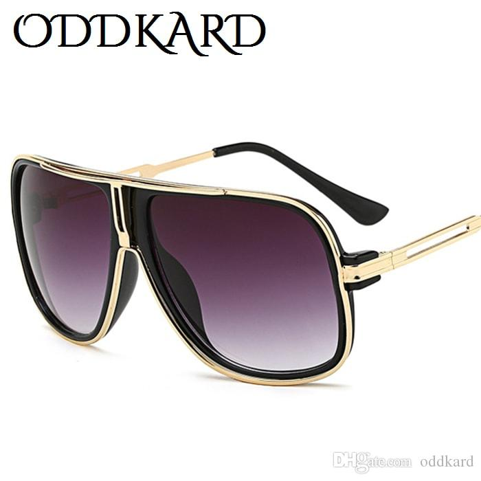 Compre Oddkard Dtc Series Flat Top Gafas De Sol De Moda Para Hombres Y Mujeres  Diseñador De La Marca Pilot Gafas De Sol Oculos De Sol Uv400 Ok27032 A   6.64 ... 78aa6fc6815d