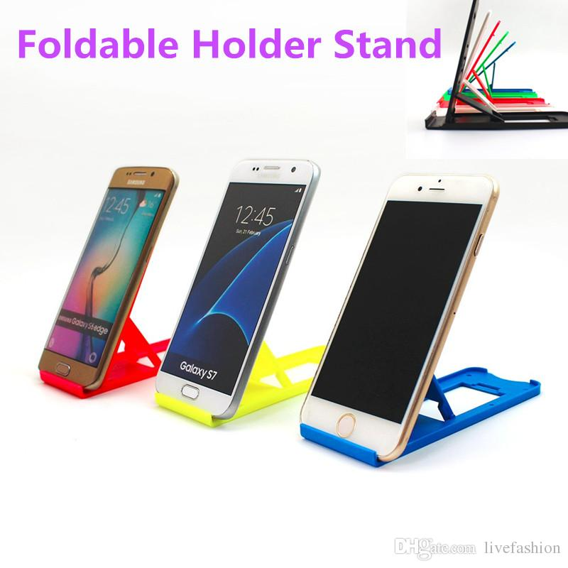 3a4f6d71c9 2019 Foldable Stand Holder Universal Adjustable Folding Support Mini  Portable Plastic Kicketstand Holder For Cell Phones Iphone4 4s 5 Samsung  HTC From ...