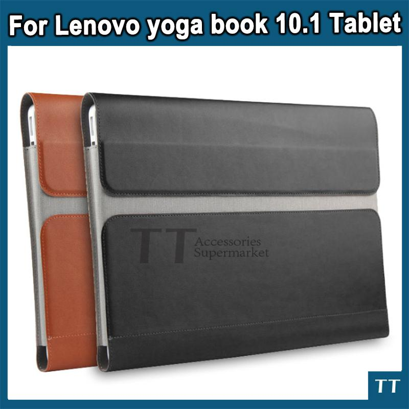 pretty nice bad13 32686 Wholesale- Cover Case for lenovo yoga book 10.1 tablet New Design Fashion  Sleeve Pouch Messenger Bag PU Leather protective cover 3 gifts