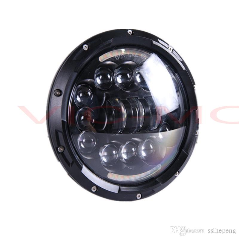 7 Inch Led Car Headlights Automobiles Angel Eyes H4 LED Turn Signal DRL Round Headlamp For Jeep Wrangler Hummer Land Rover
