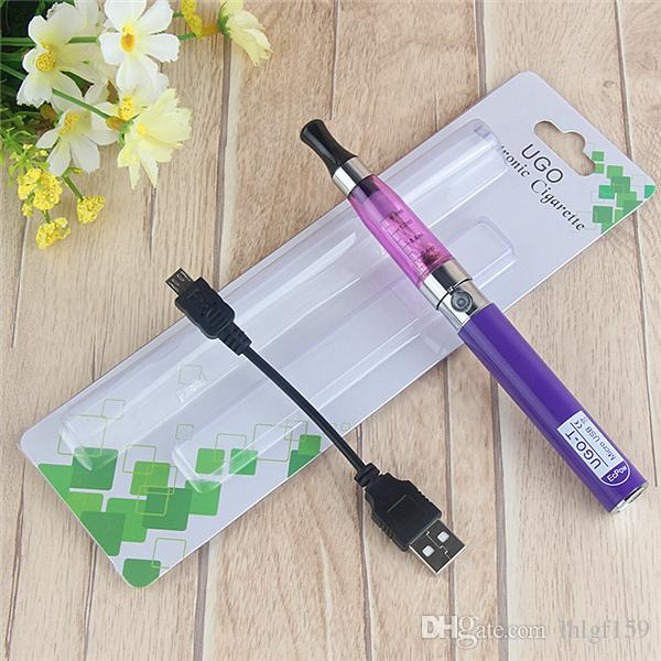 Ego CE4 Blister Kit E Cigarettes 650mah E Cig Vaporizer Pen 510 UGO EGO T Passthrough Battery CE4 Atomzier Clearomizer Starter Kit Packs