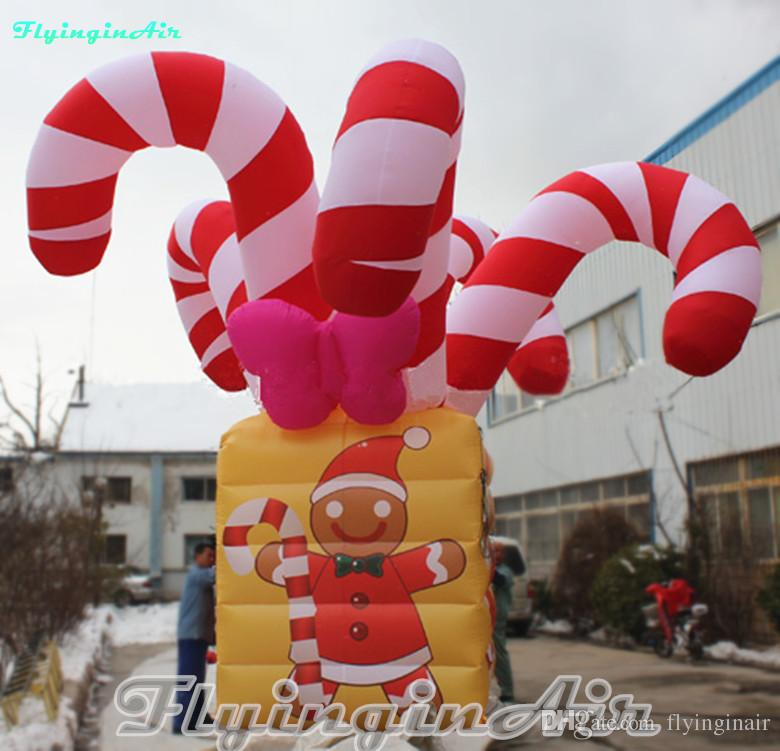 6m giant christmas decorative inflatable candy box with gingerbread man outside christmas decoration outside christmas decorations from flyinginair