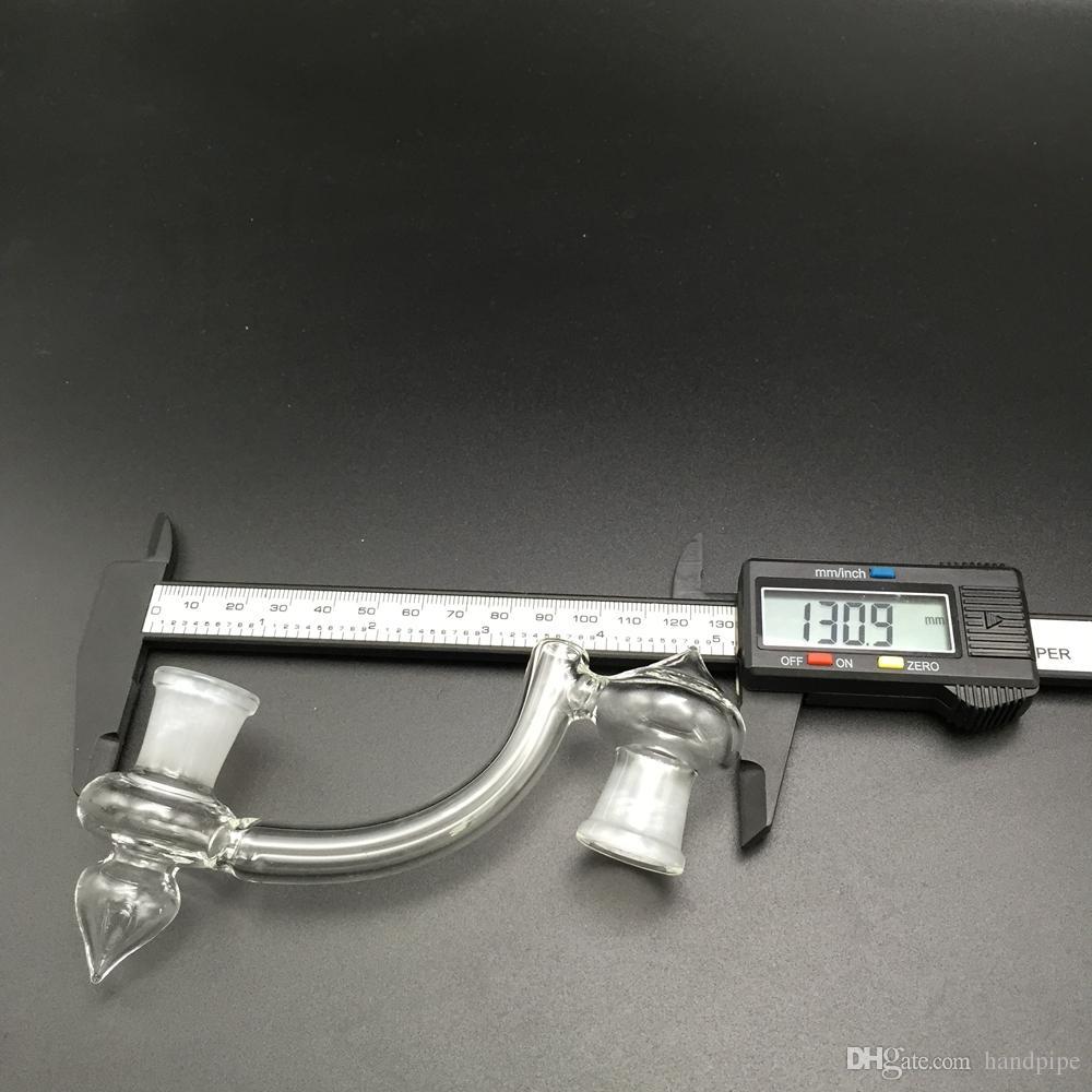 10 Arten Glas Bong Adapter Glas Drop-Down-Adapter 14mm 18mm männlich zu männlich, weiblich zu weiblichen Konverter Glas Ölplattformen Adapter
