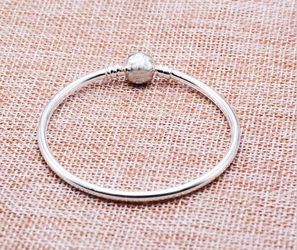 100 ٪ الفضة الاسترليني سوار أصيلة صالح باندورا سوار الإسورة الأصلي أو كاميليا سحر الخرزة الصلبة الفضة