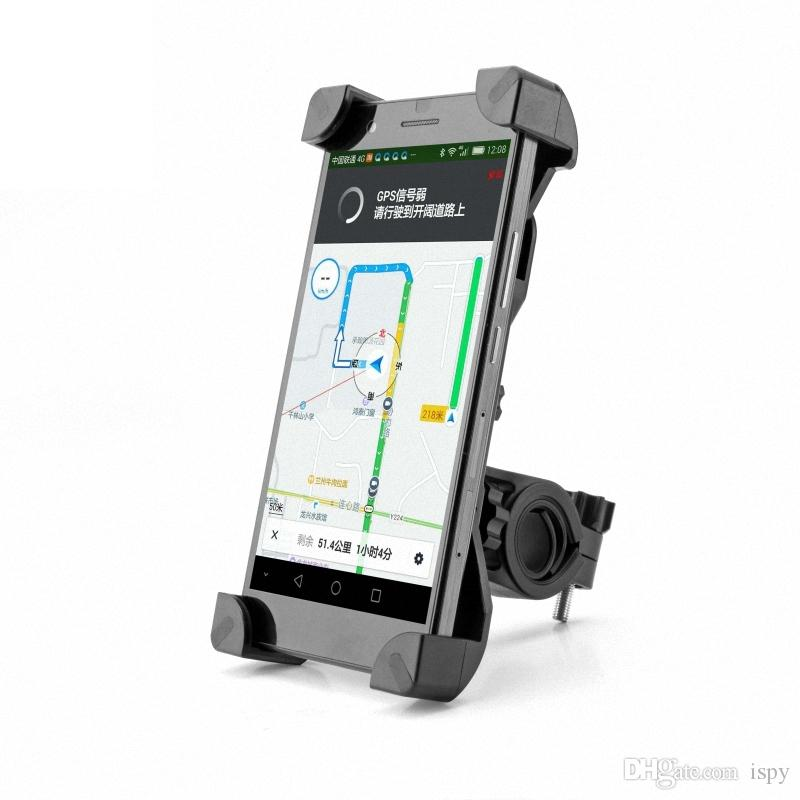 Universal 360 Rotating Bicycle Bike Phone Holder Handlebar Clip Stand Mount Bracket For Smart Mobile Cellphone With Retail Package
