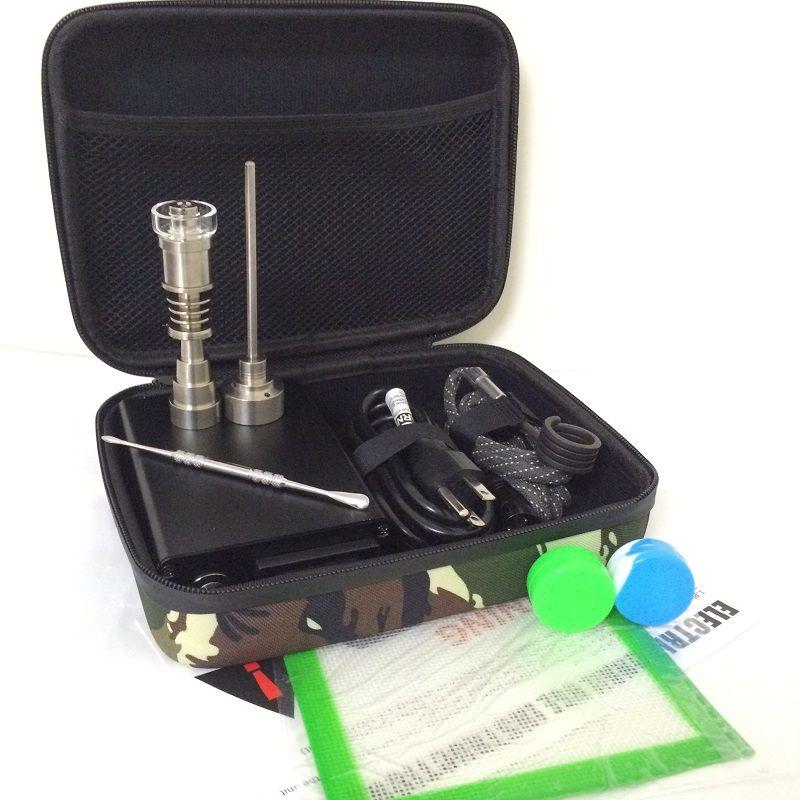 Barato eléctrico dab clavo E dab Nails clavo electrónico para dabbing dabber rig PID caja digital Cuarzo clavo Titanio bobina calentador