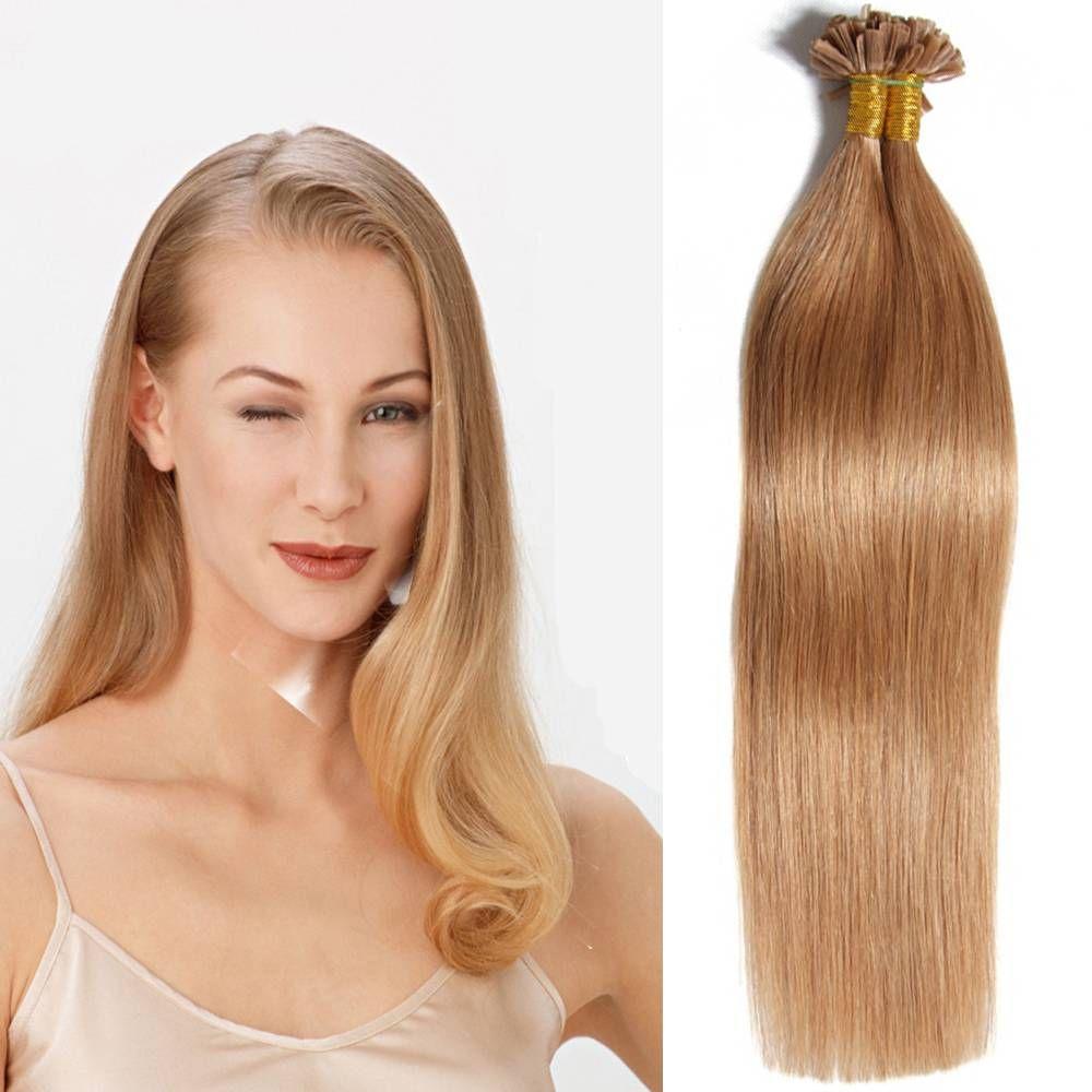 Hot Selling Brazilian U Tip Human Hair Extensions Straight Keratin