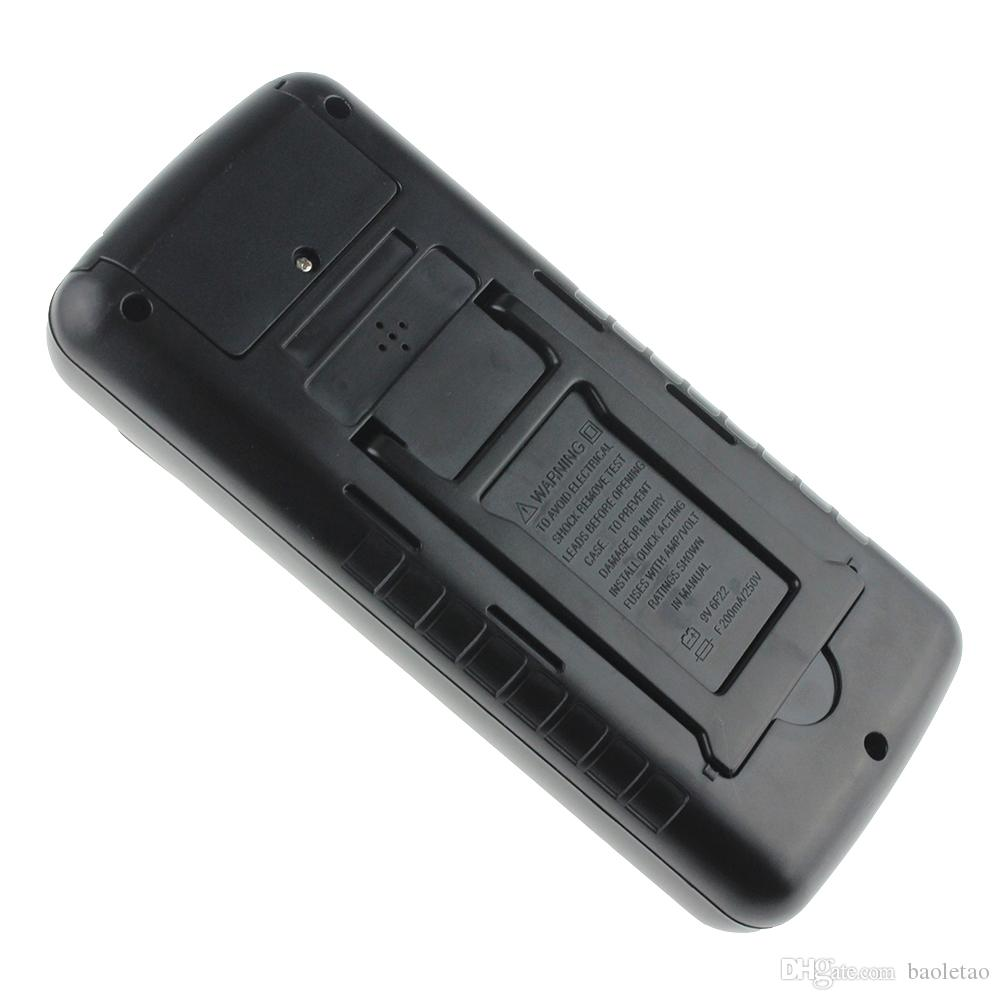 9205A Multimetro digitale portatile AC / DC Tensione Corrente Resistenza Capacità Voltmetro Amperometro Multi Tester Display LCD