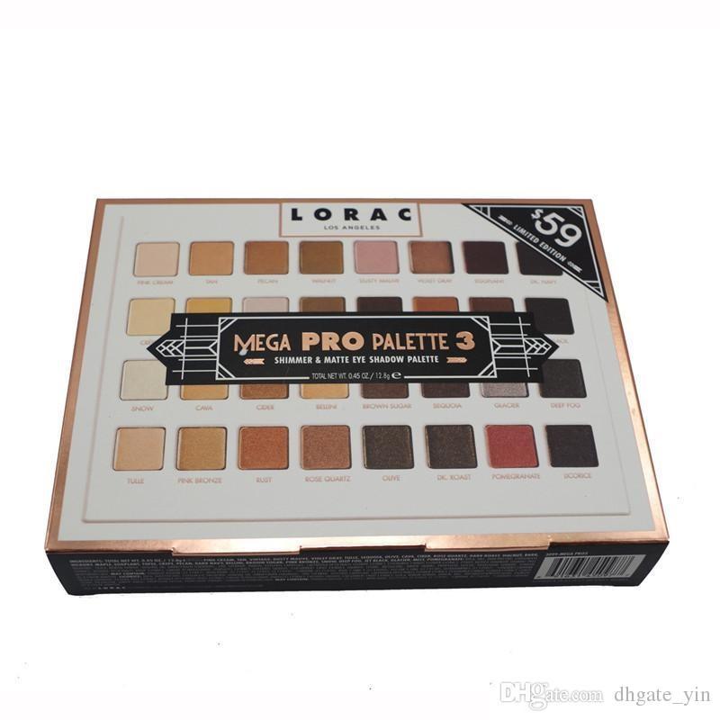 Lorac Mega Pro 3 Palette Lidschatten 32 Farben Palette Schimmer Matte Marken Lidschatten-Palette Make-up