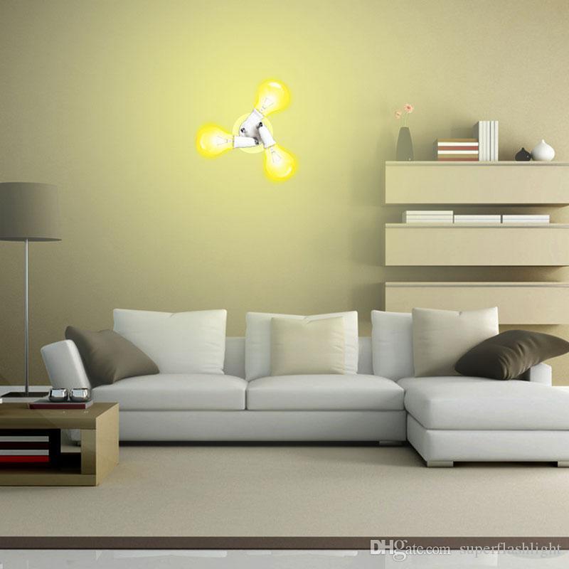 3 en 1 Ajustable E27 Base Luz Lámpara Bulbo Adaptador Tenedor Socket Splitter 250W Cada Socket LED_80R