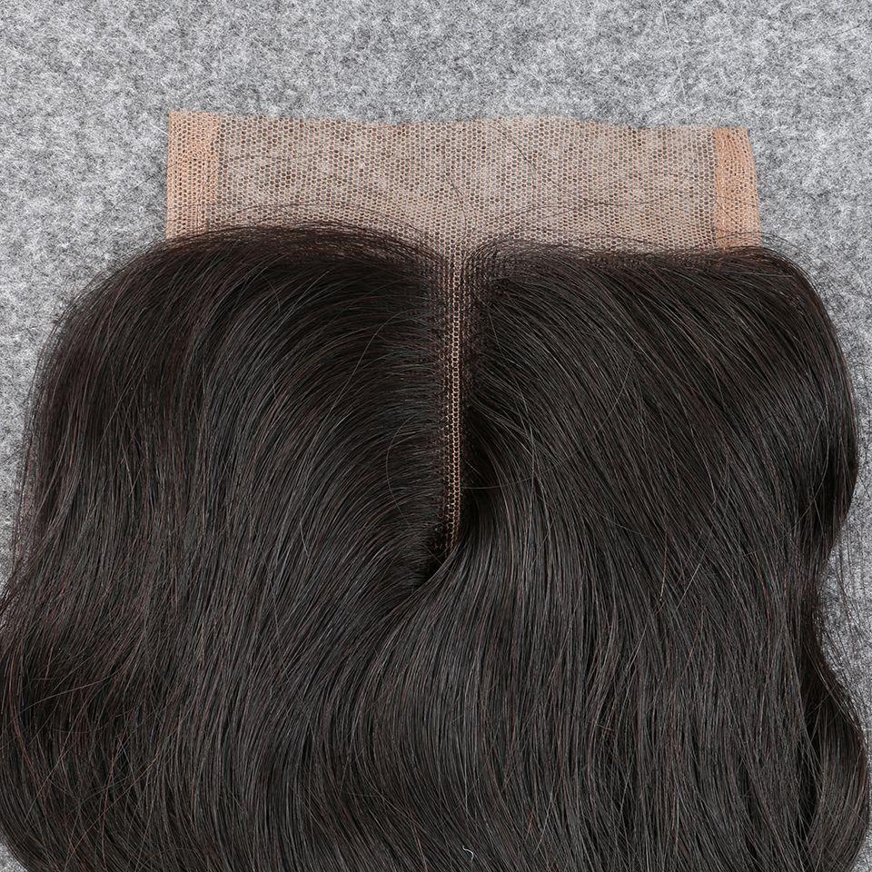 "Slove Rosa Hair Silk Base Closure Wet And Wavy Hair Peruvian Virgin Water Wave 6a Remy Hair 10""-20"" Bleached Knots"
