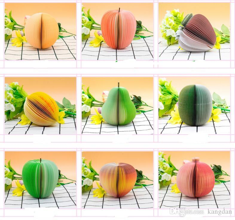 Hot Fruit Note Memo Pad Portable Scratch Paper Notepads Post Sticky Apple Shape Creative sticker pear note book pad Fancy gifts Prizes