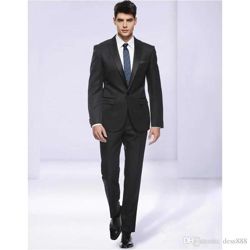Slim Fit Man Suit High Quality Groom Tuxedos 1 Buttons Groomsman Suit for Man Clothes Custom Made Wedding Suit Jacket+pants