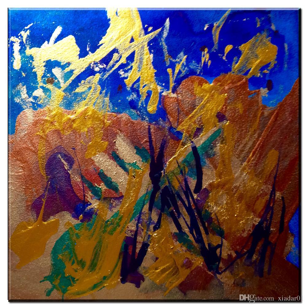 ZZ999 moderna astratta su tela colorata quadri su tela pittura ad olio soggiorno camera da letto decorazione dipinti senza cornice