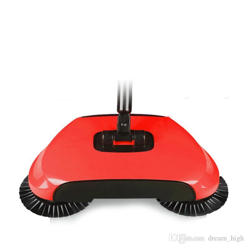Barredora de empuje manual Escoba mágica Recogedor Mango Paquete de limpieza del hogar Barredora propulsada a mano Aspirador de piso