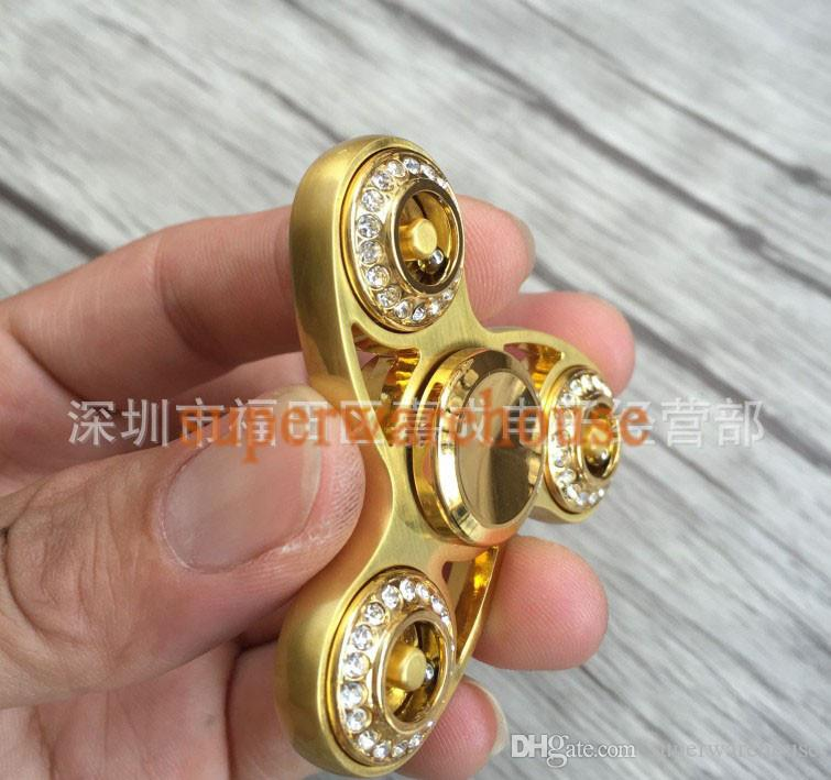 Hand spinner gyro diamond drill gyro with drill sun flower finger gyro hand spinner decompression toys
