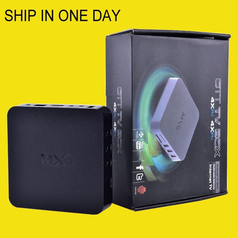 android tv box MX MXQ TV BOX Amlogic S805 Quad Core Android 4 4 2 Stream  Video H 265 1GB 8GB TV Channels 16 1 Media Player dhl OTH035