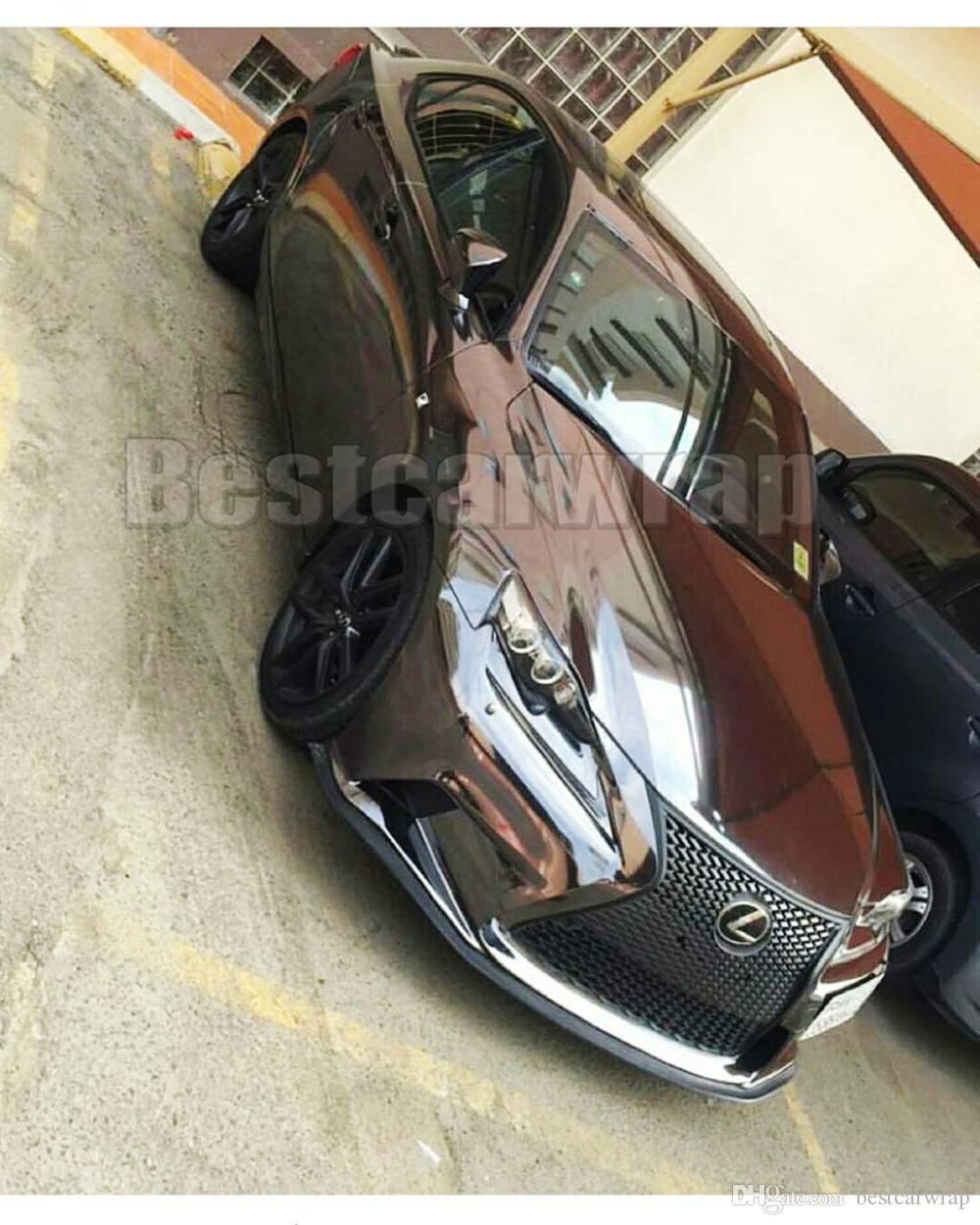 Alta estirable Black Chrome vinilo Wrap Chrome Mirror Foil para coche Wrap Air Bubble Free Size: 1.52 * 20M / Roll 5 pies x 65 pies