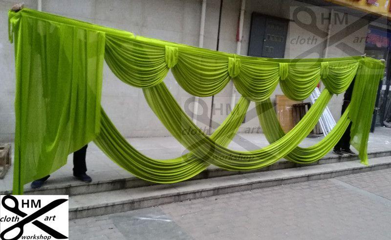 6 m de large swags de toile de fond cantonnière styliste de mariage toile de fond swags partie rideau célébration Performance Performance fond conceptions et rideaux