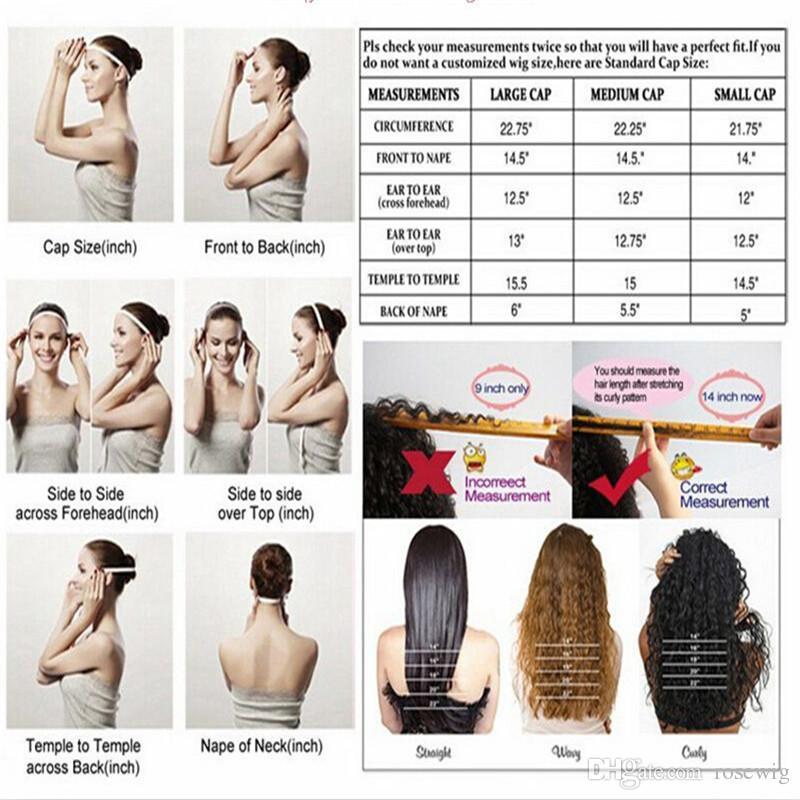 Capelli umani brasiliani Miele # 27 parrucca anteriore del merletto Parrucche seriche diritte dei capelli umani con la linea sottile naturale dei capelli del bambino